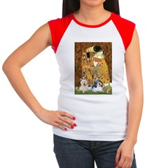 KISS/PBGV8+Westie1 Women's Cap Sleeve T-Shirt