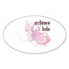 Archives Babe Oval Decal