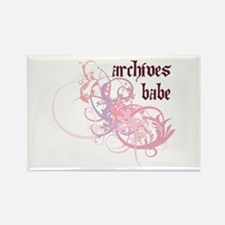 Archives Babe Rectangle Magnet