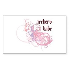 Archery Babe Rectangle Stickers