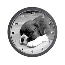 Boxer Puppy Wall Clock