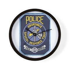 Brunswick Police SWAT Wall Clock