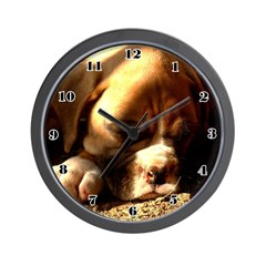 Fawn Boxer Puppy Wall Clock