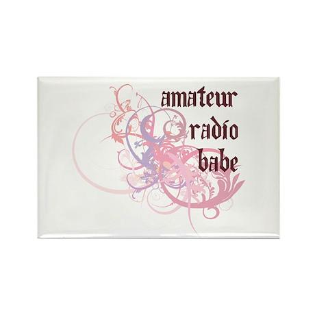 Amateur Radio Babe Rectangle Magnet (100 pack)