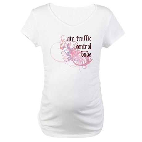 Air Traffic Control Babe Maternity T-Shirt