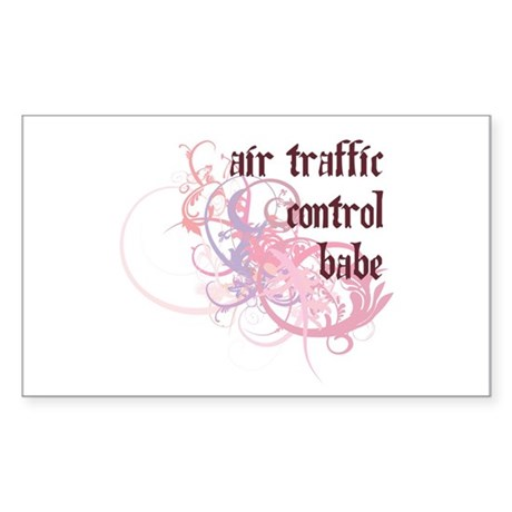 Air Traffic Control Babe Rectangle Sticker 50 pk)