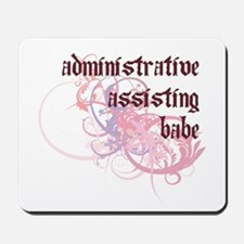 Administrative Assisting Babe Mousepad