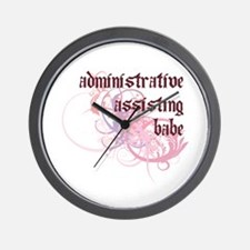 Administrative Assisting Babe Wall Clock