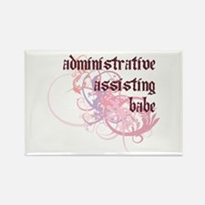 Administrative Assisting Babe Rectangle Magnet (10
