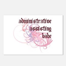 Administrative Assisting Babe Postcards (Package o
