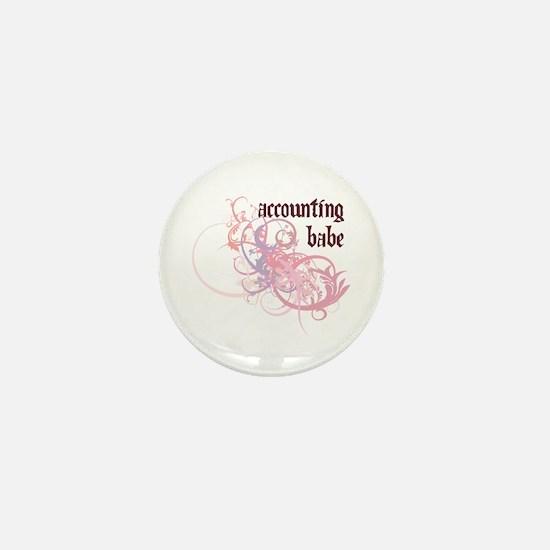 Accounting Babe Mini Button