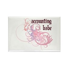 Accounting Babe Rectangle Magnet