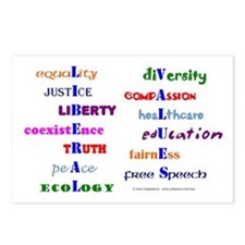 Liberal Values Postcards (Package of 8)
