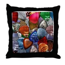 Guitar Picks Throw Pillow