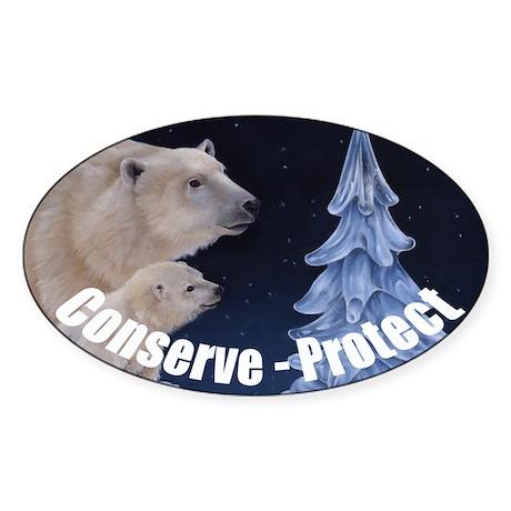 Ice Tree Oval Sticker