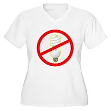No PC Lightbulb T-Shirt