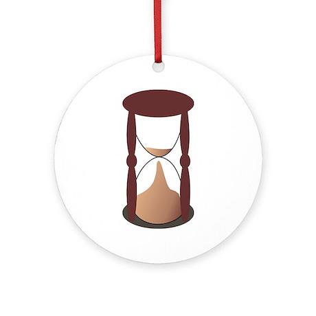 Masonic Hour Glass Ornament (Round)