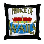 Baby Shower Prince Throw Pillow