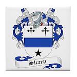 Sharp Family Crest Tile Coaster