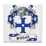 Sibbald Family Crest Tile Coaster