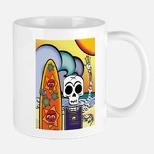 Day of the Dead Skeleton Surfer Mug