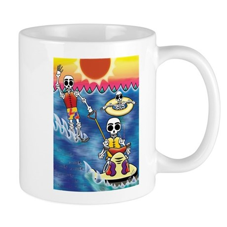 Day of the Dead Skeletons Water Sports Mug
