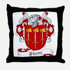 Skene Family Crest Throw Pillow