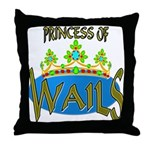 Baby Shower Princess Throw Pillow