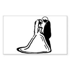 Bride & Groom Rectangle Decal