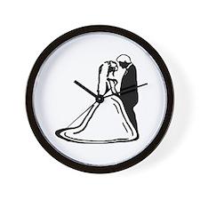 Bride & Groom Wall Clock