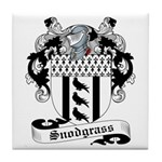 Snodgrass Family Crest Tile Coaster