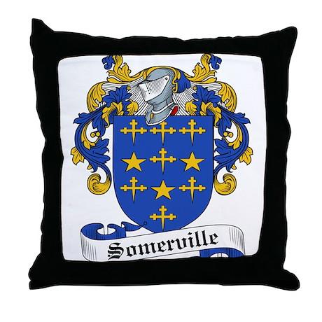 Somerville Family Crest Throw Pillow