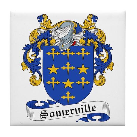 Somerville Family Crest Tile Coaster