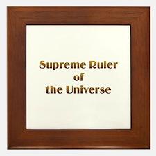 Supreme Ruler Framed Tile