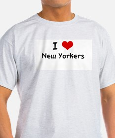 I LOVE NEW YORKERS Ash Grey T-Shirt