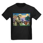 St Francis/Cavalier Trio Kids Dark T-Shirt