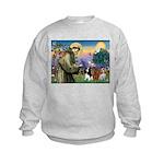 St Francis/Cavalier Trio Kids Sweatshirt