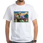 St Francis/Cavalier Trio White T-Shirt