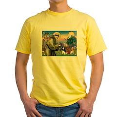 St Francis/Cavalier Trio Yellow T-Shirt
