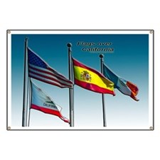 Flags over California Banner