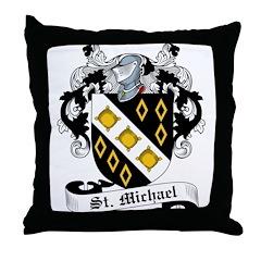 St. Michael Family Crest Throw Pillow