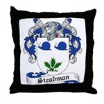 Steadman Family Crest Throw Pillow
