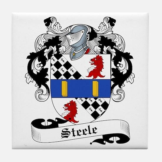 Steele Family Crest Tile Coaster