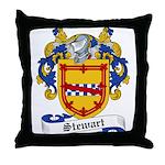 Stewart Family Crest Throw Pillow