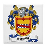 Stewart Family Crest Tile Coaster
