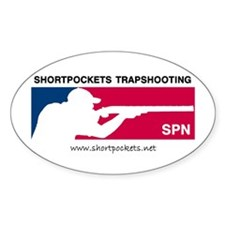 ShortPockets Trapshooting Oval Decal
