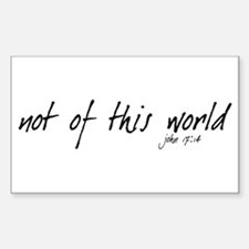not of this world - Rectangle Stickers