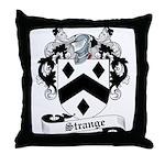 Strange Family Crest Throw Pillow