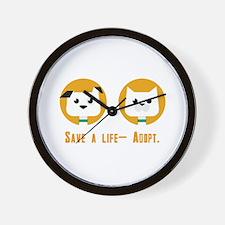 Save a life- Adopt Wall Clock