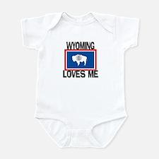 Wyoming Loves Me Infant Bodysuit